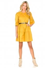 Kocca |  Poplin dress Nandini | yellow  | Picture 3