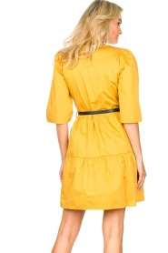 Kocca |  Poplin dress Nandini | yellow  | Picture 7