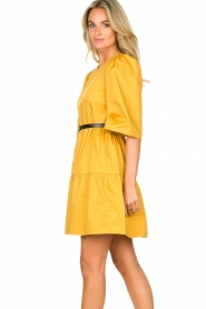 Kocca |  Poplin dress Nandini | yellow  | Picture 6