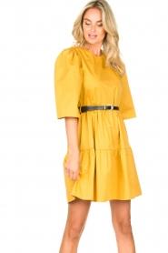 Kocca |  Poplin dress Nandini | yellow  | Picture 2