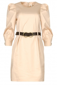 Kocca |  Dress with belt Amir | beige  | Picture 1