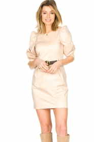 Kocca |  Dress with belt Amir | beige  | Picture 2