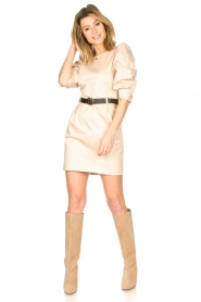Kocca |  Dress with belt Amir | beige  | Picture 3
