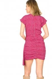 Kocca |  Printed drape dress Kimani | red   | Picture 6