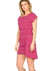 Kocca |  Printed drape dress Kimani | red   | Picture 7