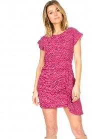 Kocca |  Printed drape dress Kimani | red   | Picture 5