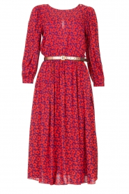 Kocca |  Floral midi dress Malti | red  | Picture 1