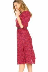 Kocca |  Floral midi dress Malti | red  | Picture 5