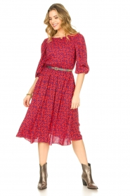 Kocca |  Floral midi dress Malti | red  | Picture 3