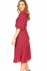 Kocca |  Floral midi dress Malti | red  | Picture 6