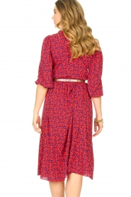Kocca |  Floral midi dress Malti | red  | Picture 7