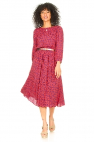 Kocca |  Floral midi dress Malti | red  | Picture 3