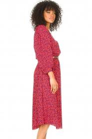 Kocca |  Floral midi dress Malti | red  | Picture 6