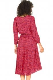 Kocca |  Floral midi dress Malti | red  | Picture 7