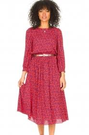 Kocca |  Floral midi dress Malti | red  | Picture 2