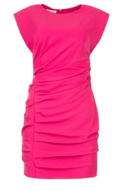 Kocca |  Drapped dress with shoulder pads Rajani | pink  | Picture 1