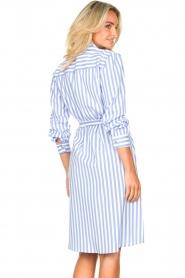 Kocca |  Striped midi dress Kimoni | blue  | Picture 8