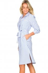 Kocca |  Striped midi dress Kimoni | blue  | Picture 6