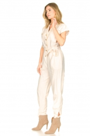 Kocca |  Jumpsuit with tie belt Bikilu | natural  | Picture 5
