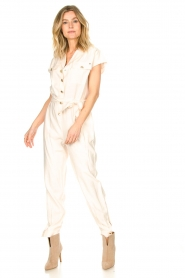 Kocca |  Jumpsuit with tie belt Bikilu | natural  | Picture 3