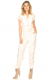 Kocca |  Jumpsuit with tie belt Bikilu | natural  | Picture 4