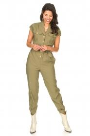 Kocca |  Jumpsuit with tie belt Bikilu | green  | Picture 3