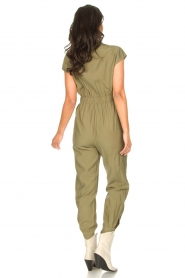 Kocca |  Jumpsuit with tie belt Bikilu | green  | Picture 6