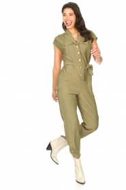 Kocca |  Jumpsuit with tie belt Bikilu | green  | Picture 2