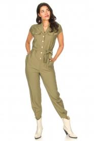 Kocca |  Jumpsuit with tie belt Bikilu | green  | Picture 4