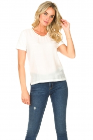 Kocca |  Top with rhinesstones Austin | natural  | Picture 3