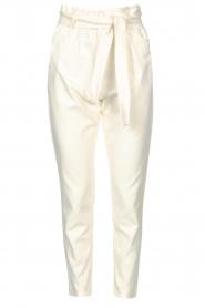 Kocca |  Cotton paperbag pants Lali | white  | Picture 1