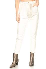 Kocca :  Cotton paperbag pants Lali | white - img4