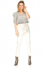 Kocca :  Cotton paperbag pants Lali | white - img3