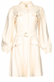 Kocca |  Dress with puff sleeves Chanya | white  | Picture 1