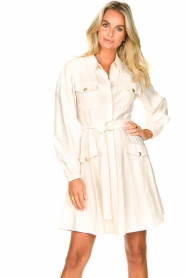 Kocca |  Dress with puff sleeves Chanya | white  | Picture 2