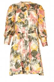 Kocca |  Dress with leaf print Amba | green  | Picture 1