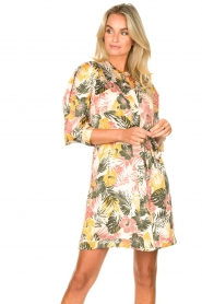 Kocca :  Dress with leaf print Amba | green - img5