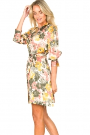Kocca :  Dress with leaf print Amba | green - img6