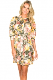 Kocca :  Dress with leaf print Amba | green - img2