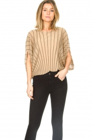 Liu Jo :  Top with batwing sleeves Jill | gold - img2