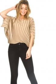 Liu Jo :  Top with batwing sleeves Jill | gold - img4