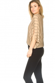 Liu Jo :  Top with batwing sleeves Jill | gold - img6