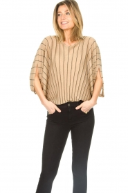 Liu Jo :  Top with batwing sleeves Jill | gold - img5