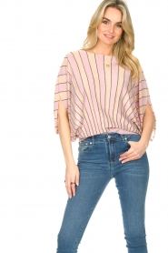 Liu Jo |  Top with batwing sleeves Jill | pink  | Picture 4