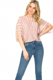 Liu Jo |  Top with batwing sleeves Jill | pink  | Picture 2