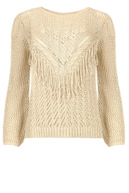 Liu Jo |  Openwork sweater Fay | gold  | Picture 1