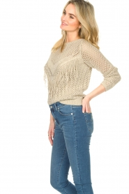 Liu Jo |  Openwork sweater Fay | gold  | Picture 6