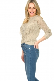 Liu Jo |  Openwork sweater Fay | gold  | Picture 5