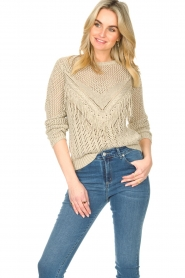 Liu Jo |  Openwork sweater Fay | gold  | Picture 4