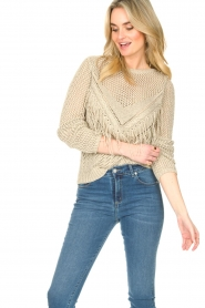 Liu Jo |  Openwork sweater Fay | gold  | Picture 2